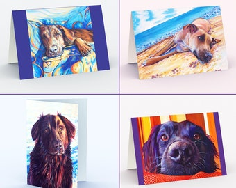 Dog Greeting Card, Dog Birthday Card, Fun All Occasion Card, Dog Note Cards, Animal Blank Cards, Dog Lover Gift, also 5 x 7 Dog Art Prints