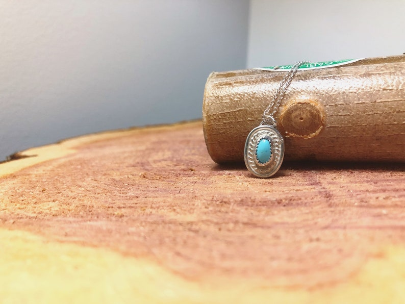 Sleeping Beauty Turquoise Necklace Boho Turquoise Jewelry Western Jewelry Indie Sterling Silver Necklace Turquoise Necklace