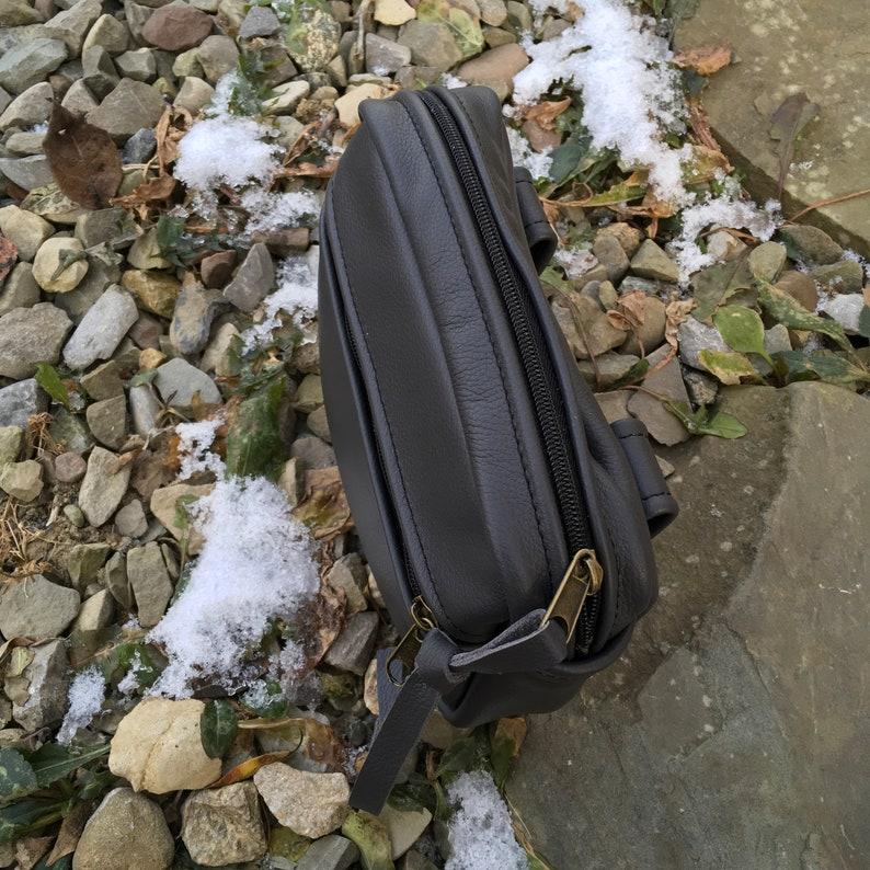 Leather belt bag manbag belt pouch waist bag fannypack Giant Wallet Pat Halpen Leather original design retro functional gift for him