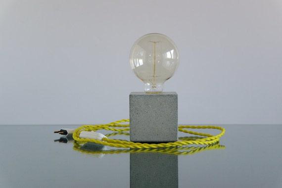 Lampe tischlampe schreibtischlampe beton hängelampe beton etsy