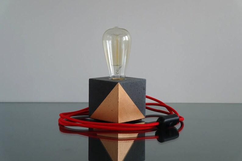 Moderne Lampen 65 : Beton lampe schreibtischlampe industrielle tischlampe lampe etsy