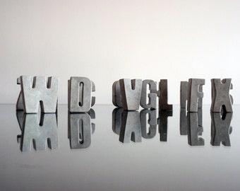 Concrete letters, Urban Home Decor Modern letters