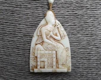 A Superb Art Deco Max Neiger Egyptian Revival Czech Glass Necklace