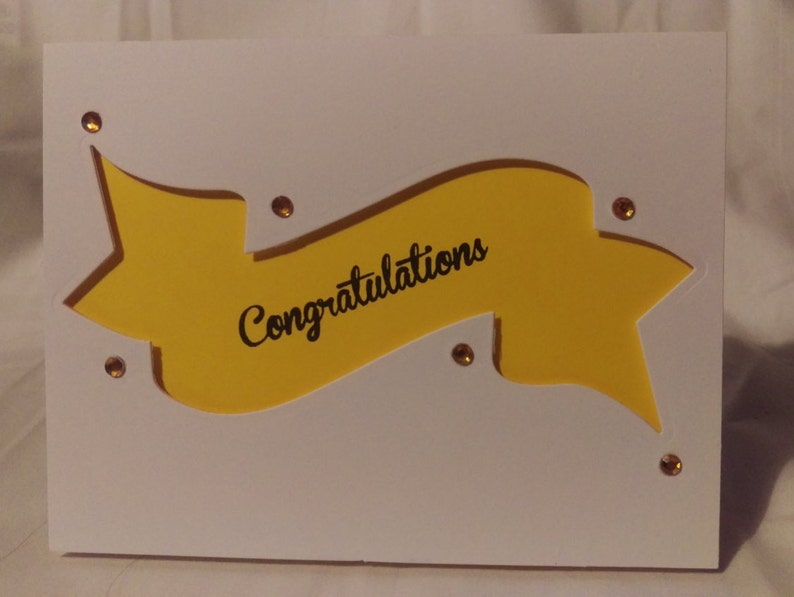 Stamping Congratulations card