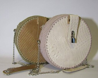 Hand made bag, genuine leather and lined parts