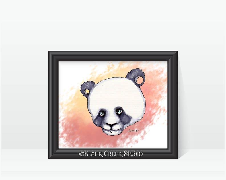 Chibi Punk Panda Print Anime Japanese Style Artwork Etsy