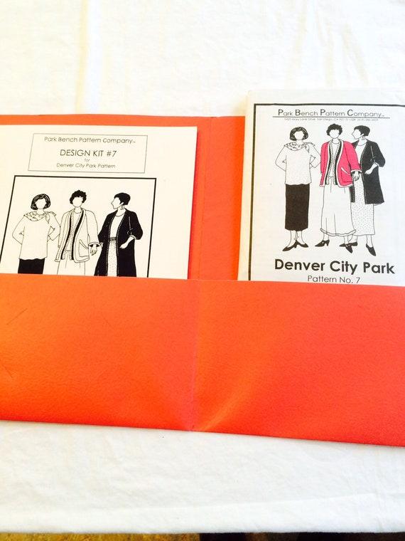 Park Bench Pattern Design Kit 7 Denver City Park Pattern Sz