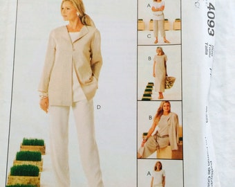 McCalls Easy 4093 Non-Stop Wardrobe Size 16 through 22 -new uncut. Classic, free shipping