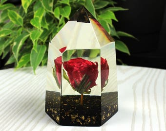 Flower paperweight etsy real red rose paperweight forever flowers paperweight flower preserved rose paperweight paperweight resin paperweight dried red rose mightylinksfo