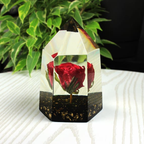 Real red rose paperweight forever flowers paperweight etsy image 0 mightylinksfo