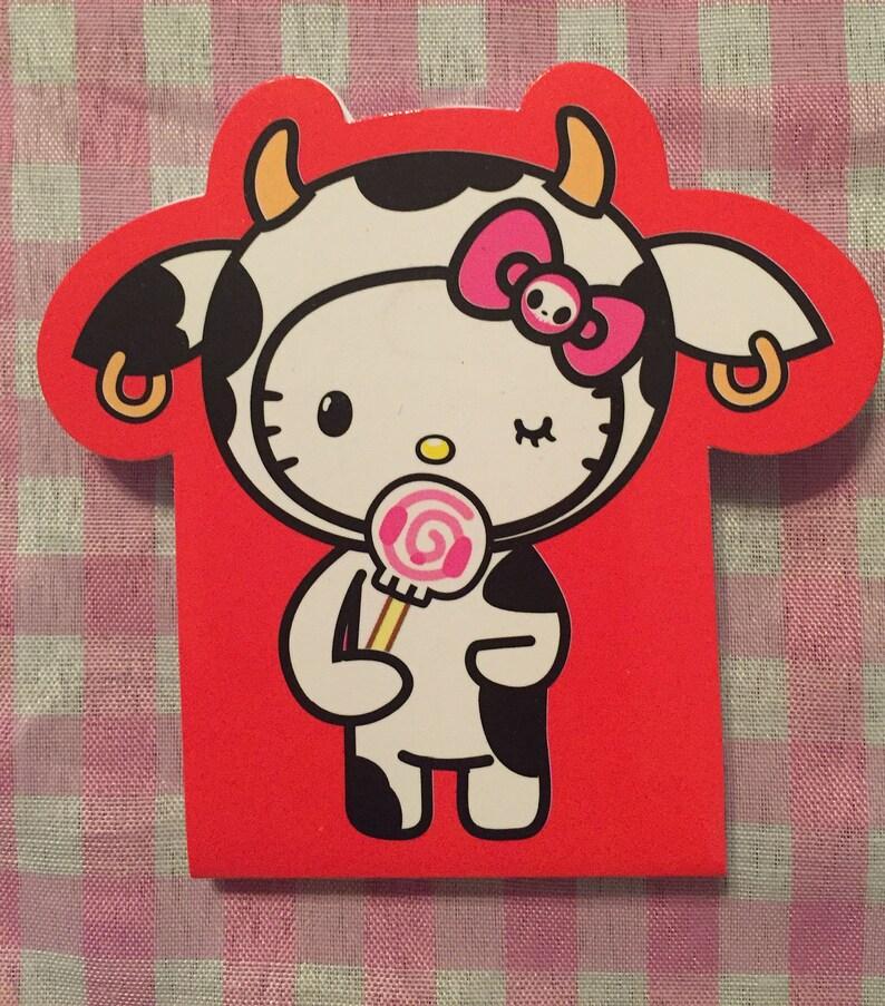 Sanrio Hello Kitty Tokidoki mini sticky note memo pad Cow  161c3650cb8a