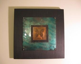 Copper Butterfly Wall Art