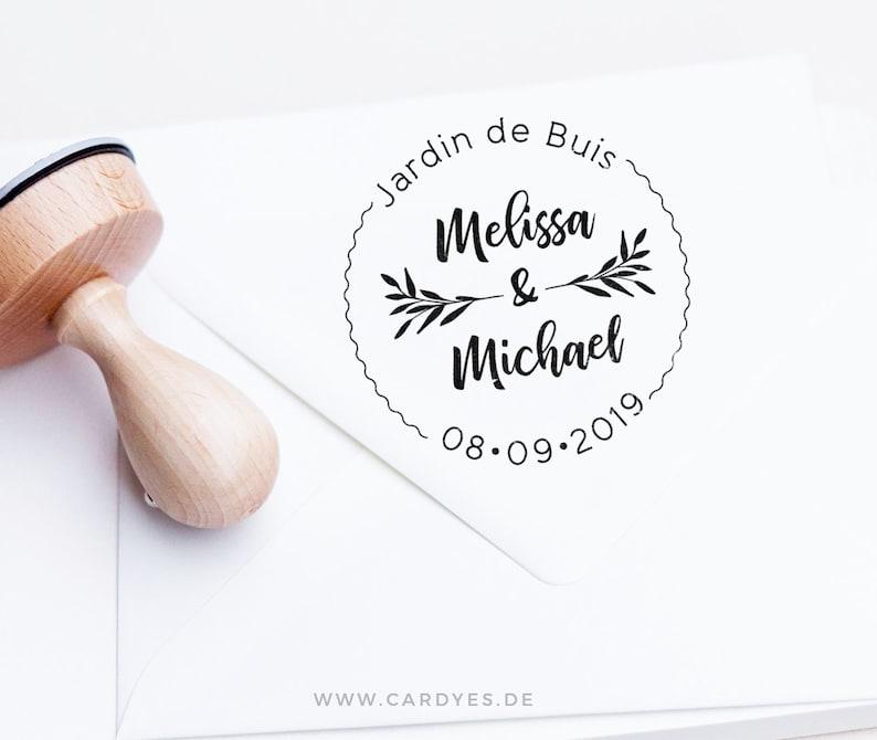 Custom wedding rubber stamps