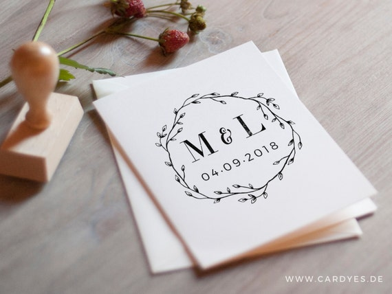 wedding monogram design save the date design template etsy