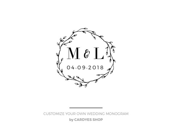 Wedding monogram design \u2022 Save the Date Design \u2022 Template