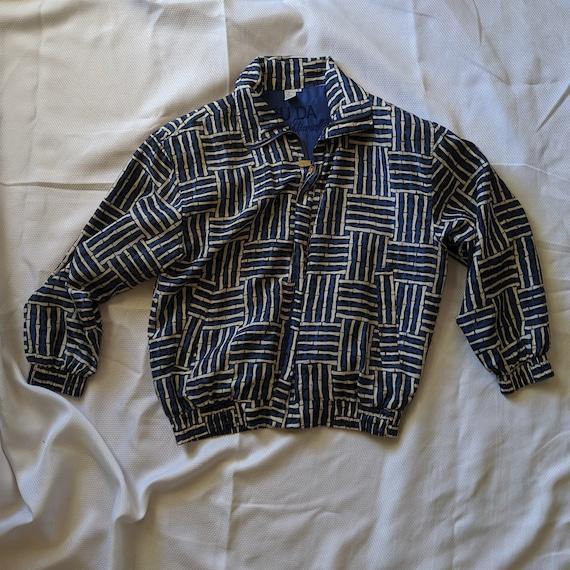 Vintage Blue Silk Jacket - Street Wear - Fuda Int… - image 1