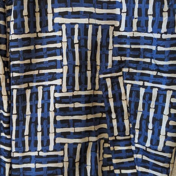 Vintage Blue Silk Jacket - Street Wear - Fuda Int… - image 4