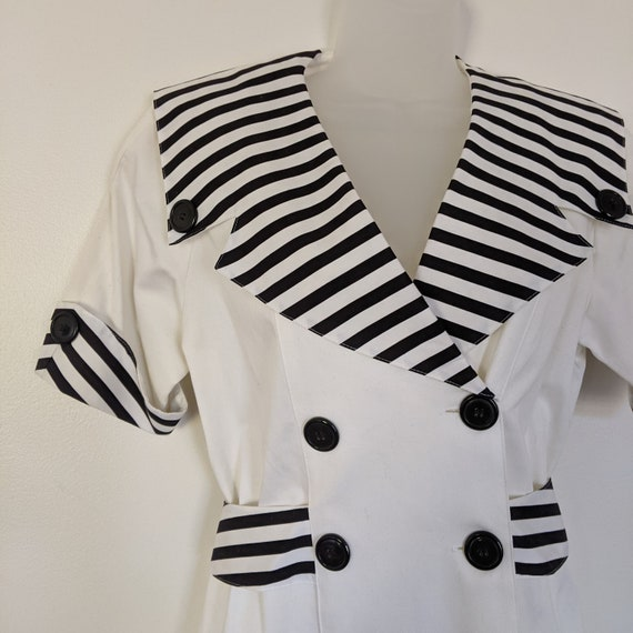 Vintage Sailor Style Howard Wolf Dress - Black and