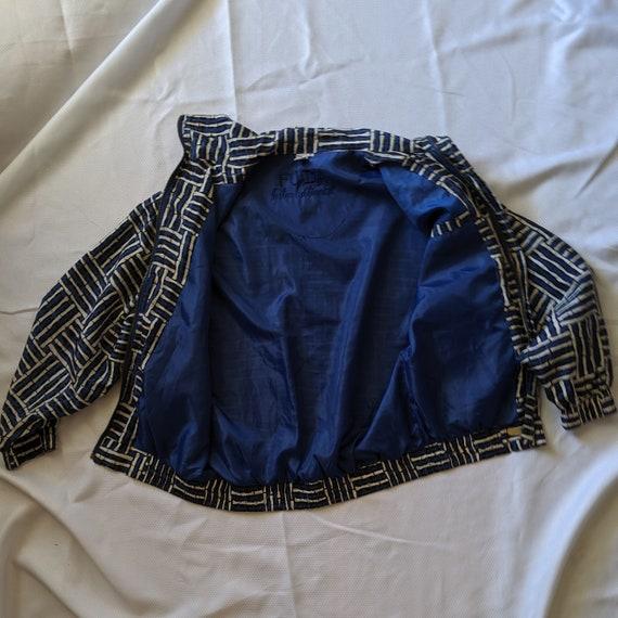 Vintage Blue Silk Jacket - Street Wear - Fuda Int… - image 6