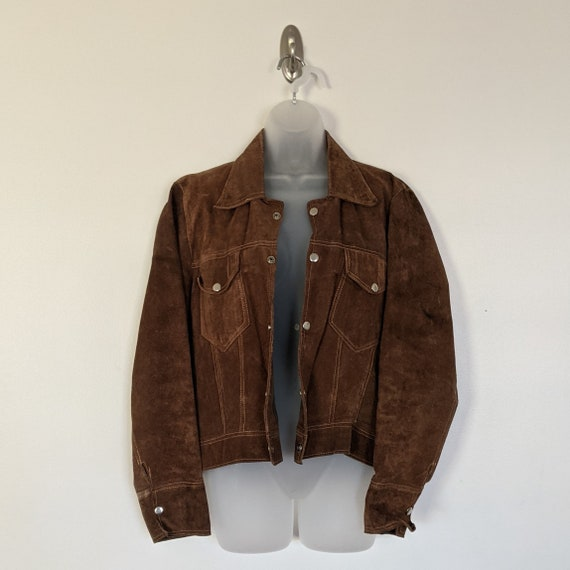 1980s Retro Vintage Brown Leather Jacket - Street