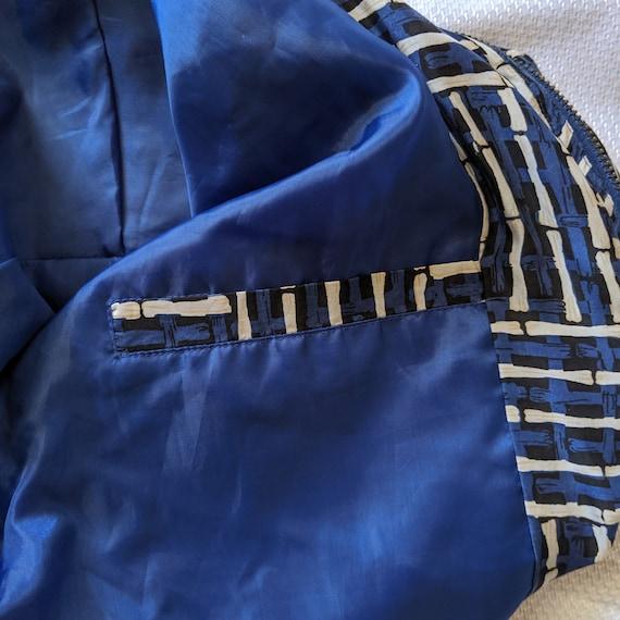 Vintage Blue Silk Jacket - Street Wear - Fuda Int… - image 3