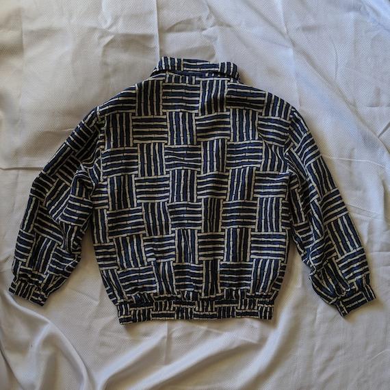 Vintage Blue Silk Jacket - Street Wear - Fuda Int… - image 5