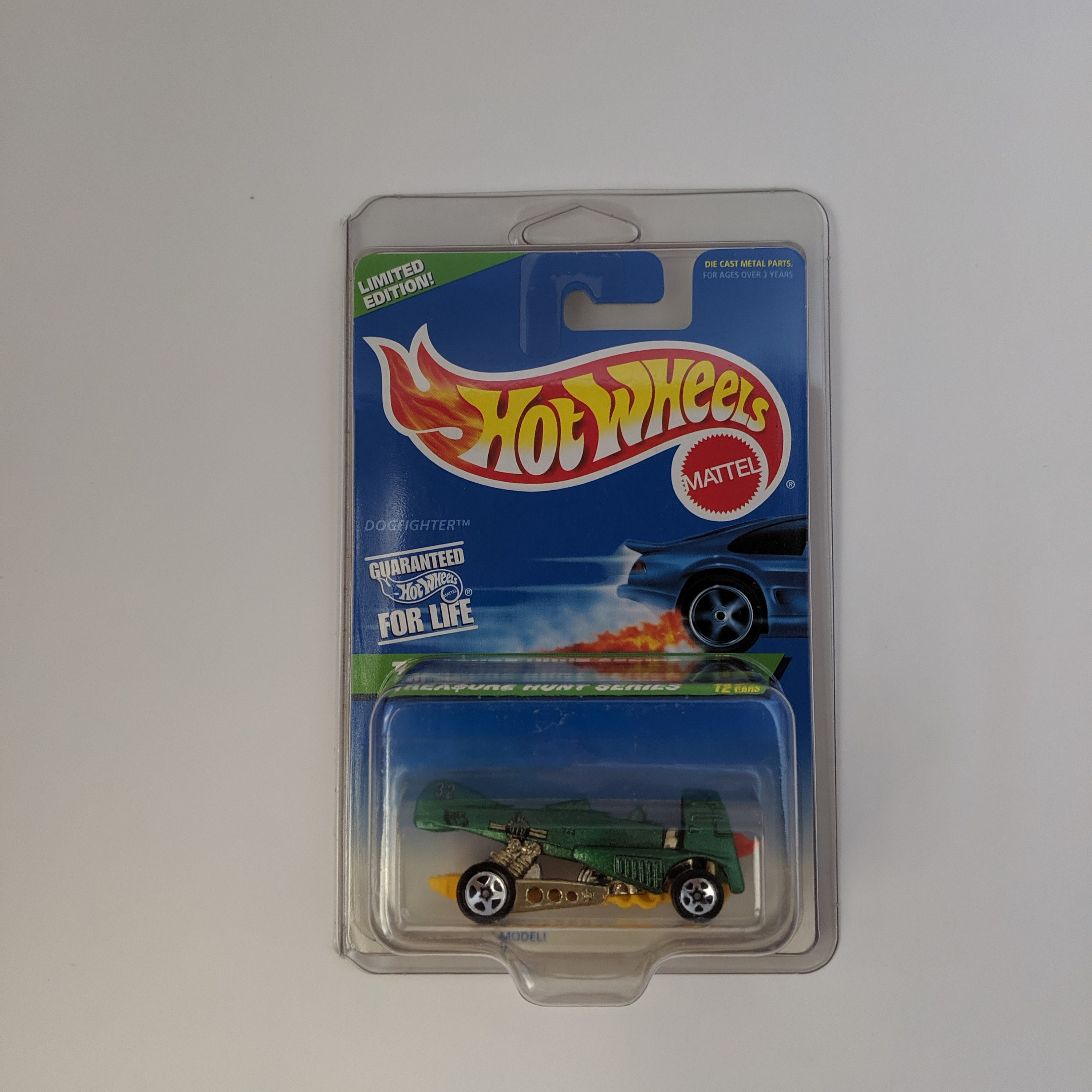 1997 Hot Wheels Treasure Hunt Series Dogfighter #8 of #12 w//Protective Case