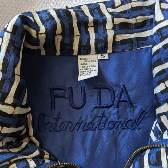 Vintage Blue Silk Jacket - Street Wear - Fuda Int… - image 2