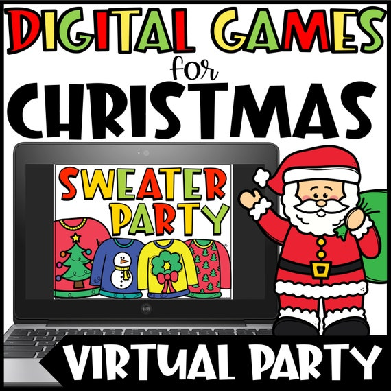 Digital Christmas Games For Kids Virtual Christmas Party For Etsy