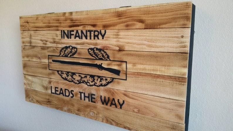 Hidden gun box Combat Infantry Badge