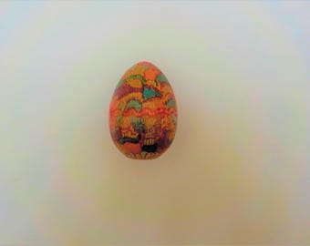 Hand Painted Wood Egg Easter Egg Wood Egg Decorated Eggs Collectibles