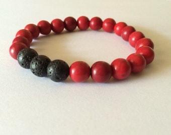 Essential Oil Aromatherapy Bracelet - Red