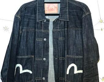 c6e189382259 Evisu Men s Denim Jacket Size Large