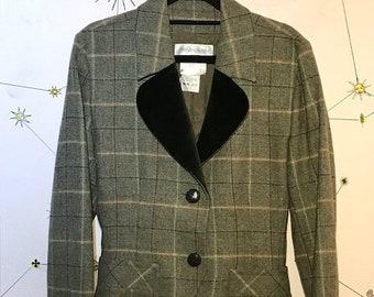 0edabc84617 Yves Saint Laurent Women's Check Wool and Cashmere Jacket Size 38 (UK10)