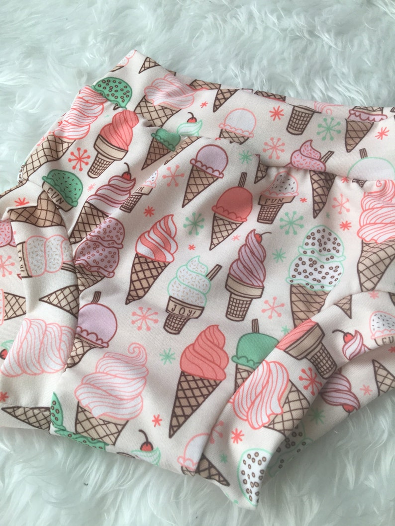 Ice cream shorts diaper cover bloomer shorts baby bloomers toddler shorts baby girl shorts baby shorts bloomers