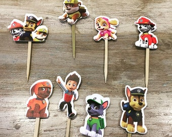 Pick shaped Pawpatrol on food stick 10 pcs.