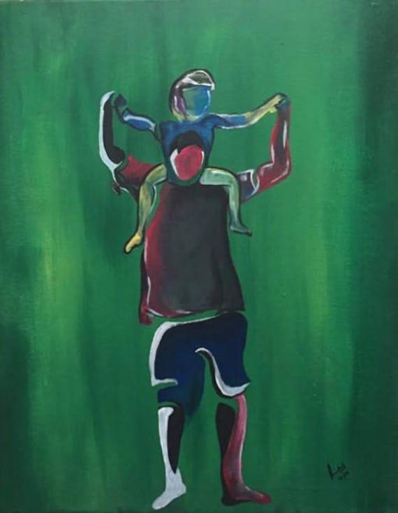Abstract Colorful Basketball Art
