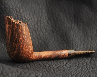 Full Bent Modified Tulip Briar Tobacco Pipe