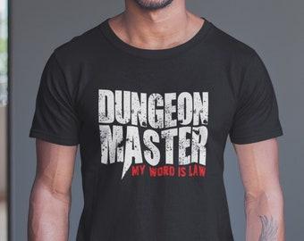 205456baf Dungeons and Dragons Tshirt, Dungeon Master Slogan T-Shirt, D&D