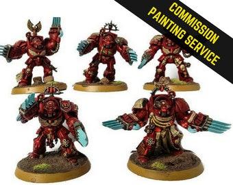 Commission Painting Services, Terminator Squad, Warhammer, Space Marines, 40k, Wargaming, RPG, Warhammer, Wargaming Models