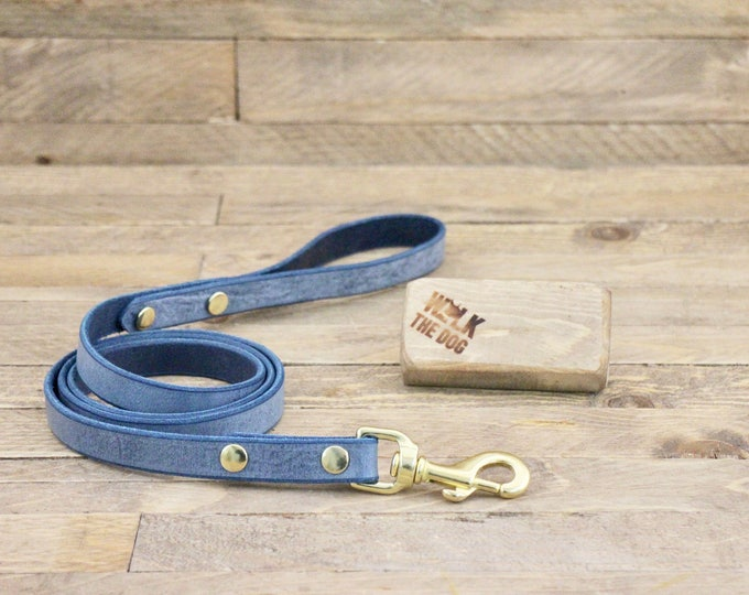 Leather leash, Cloudy sky  leash, Dog leash, Pet gift, Premium leather leash, Leather leash, Solid brass hardware, Premium leash,
