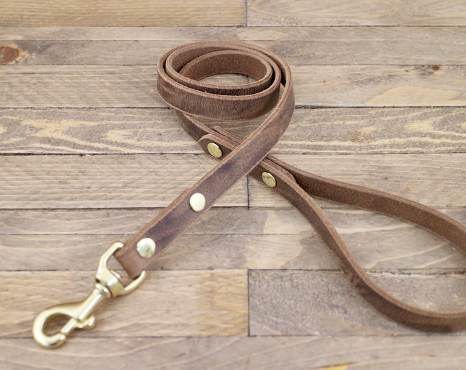 Dog leash, Handmade leash, Dog leash, Pet gift, ''Crazy horse'' leather leash, Leash, Strong leash, Leather lead, Lead.