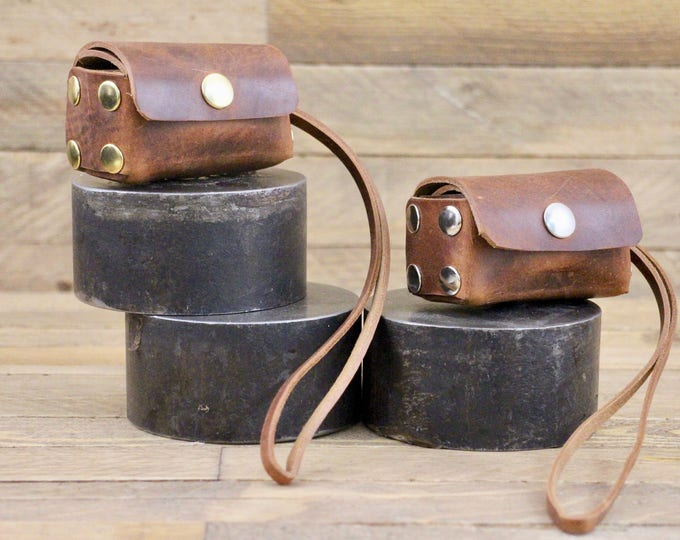 Poop bag dispenser, Cowboy brown, Dog bag, Dog supplies, Leather poop bag holder, Pet gift, Dog accessories, Dog waste bag, Gift