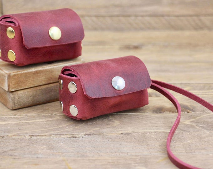 Poop bag, Burgundy, Poop bag dispenser, Dog supplies, Leather poop bag holder, Pet gift, Dog accessories, Dog waste bag, Gift, Puppy.