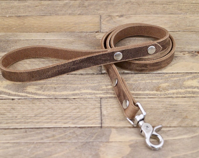 Leather leash, Leash, Dog leash, Pet gift, Vintage leather leash, ''Crazy horse'' leash, German leather leash, Strong lead, Handmade leash