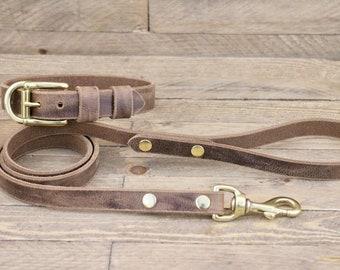 Collar & Leash  (Brass)