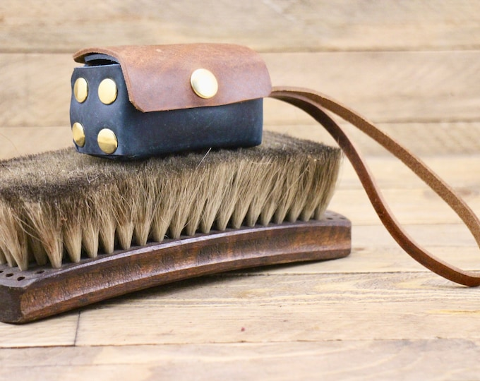Leather poop bag holder, Poop bag dispenser, Dog gift, Dog accessories, Cowboy brown, Dog waste bag, Poop bag holder