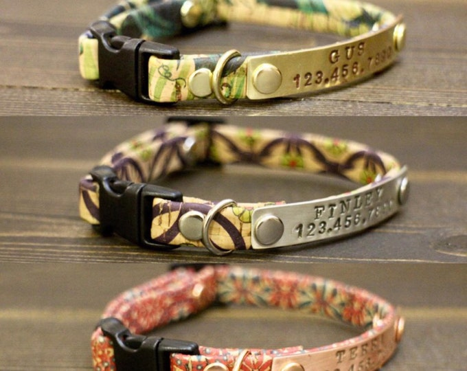 Kitten collar - Black cat collar - Cat collar - Collars for cats - Cat collar breakaway - Personalised cat collar - FREE ID Tag