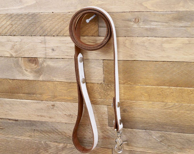 Leather leash, Leash, Dog leash, Pet gift, Leather leash, Strong leash, ''White desert'' leather leash, Strong lead.