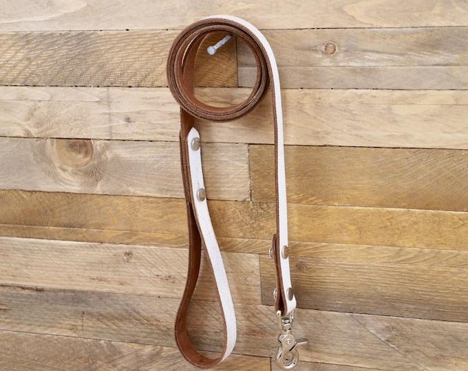 Leather leash, Leash, Dog leash, Pet gift, Leather leash, Strong leash, ''White desert'' leather leash, Strong lead.